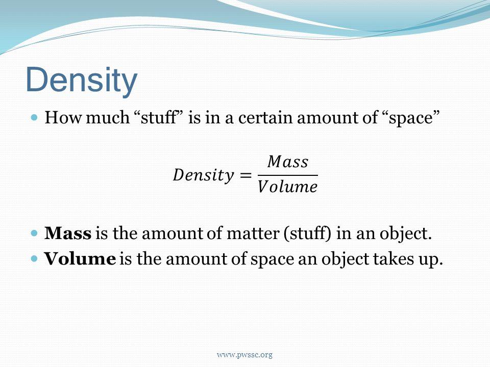 Density www.pwssc.org