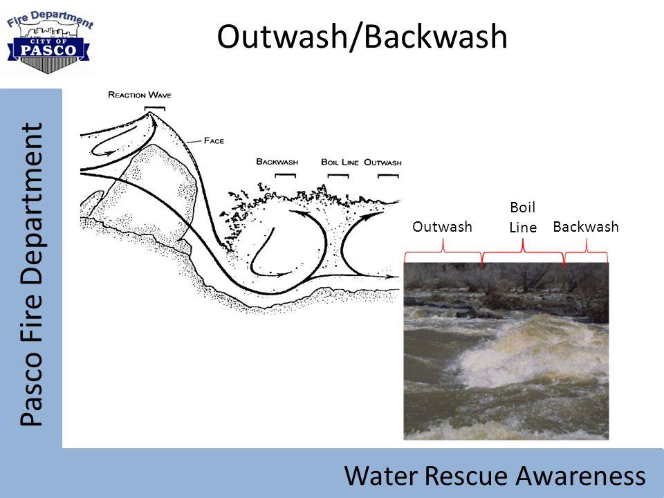 Pasco Fire Department Water Rescue Awareness Outwash/Backwash Outwash Boil Line Backwash