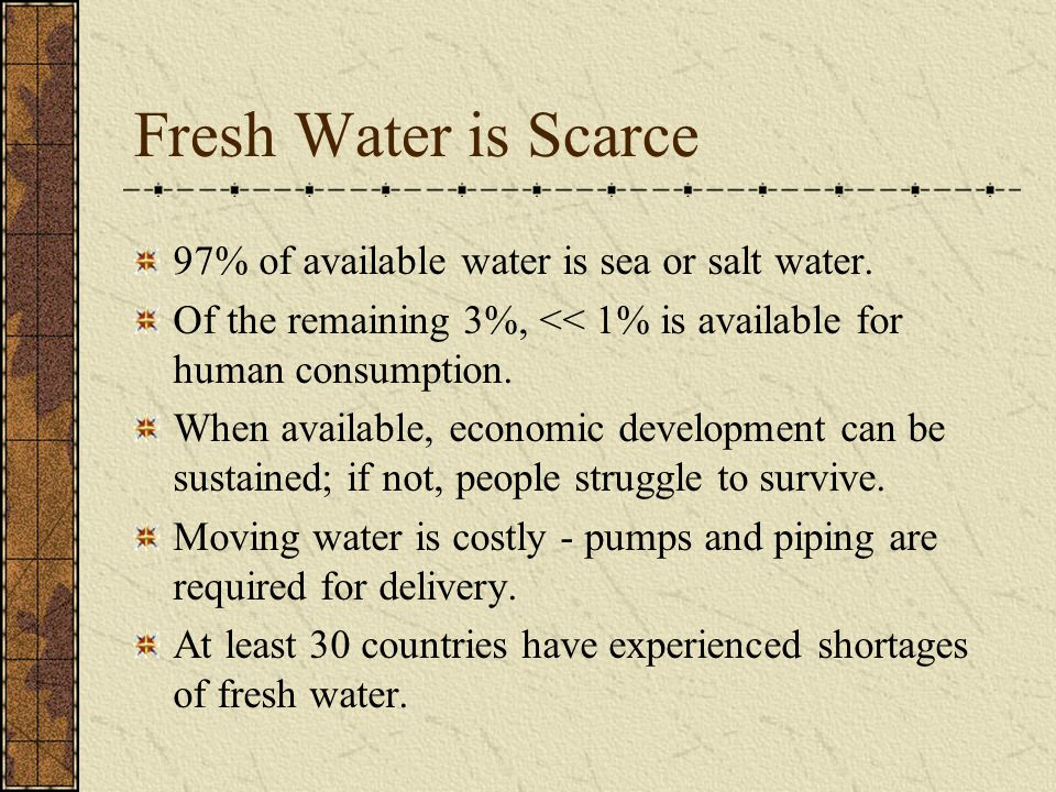 Non-Scarcity Pricing Yields Waste Urban prices > Agricultural prices & restricted exchange leads to crops that heavily use water.