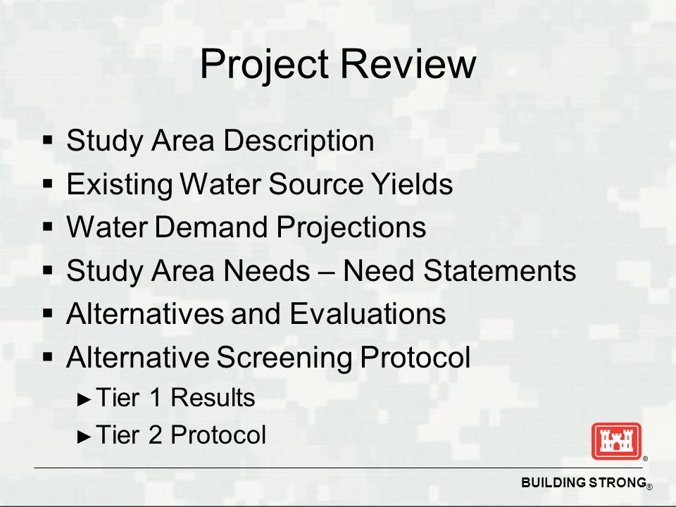 BUILDING STRONG ® Next Steps for Implementation North Central Rate Studies Water Purchase Contract Model after Simpson Co., KY.