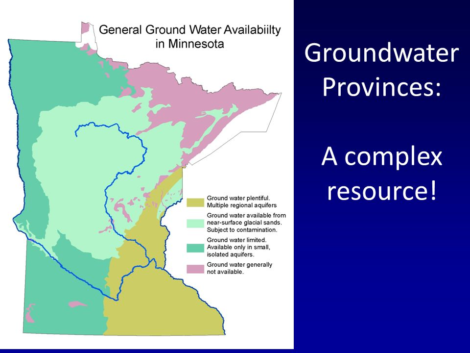 Groundwater Provinces: A complex resource!