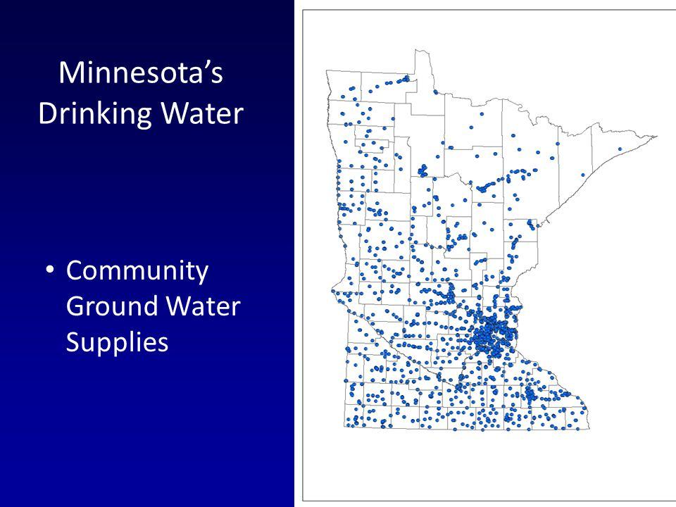 Community Ground Water Supplies Minnesotas Drinking Water