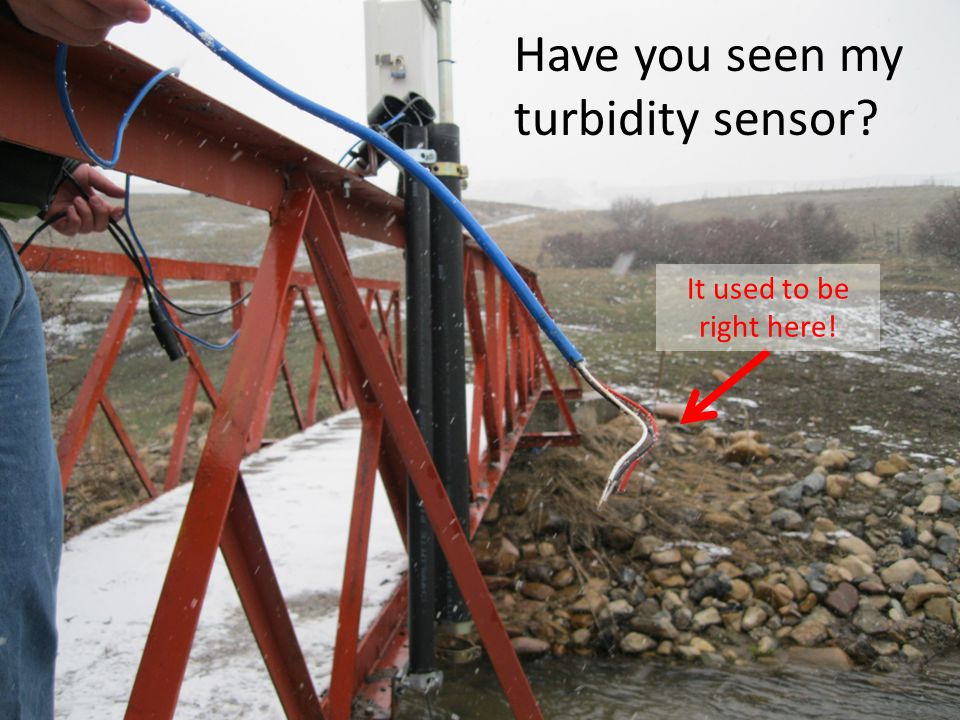 Have you seen my turbidity sensor It used to be right here!