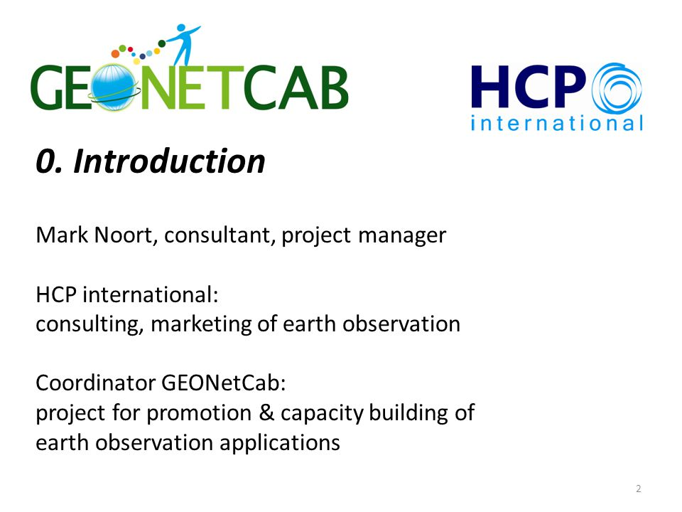 3 Earth observation applications On the verge of reaching new user communities These new user communities need to be involved Weakest link / last mile aspects are important Marketing needed: promotion & capacity building