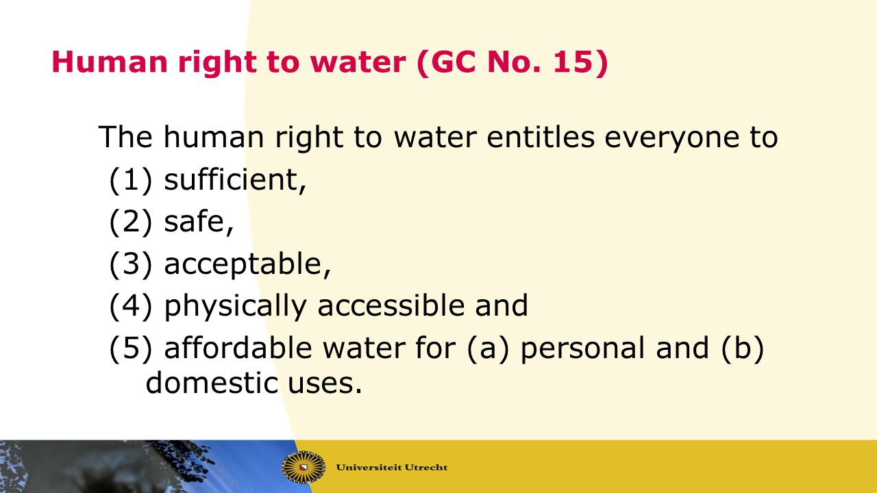 Human right to water (GC No.