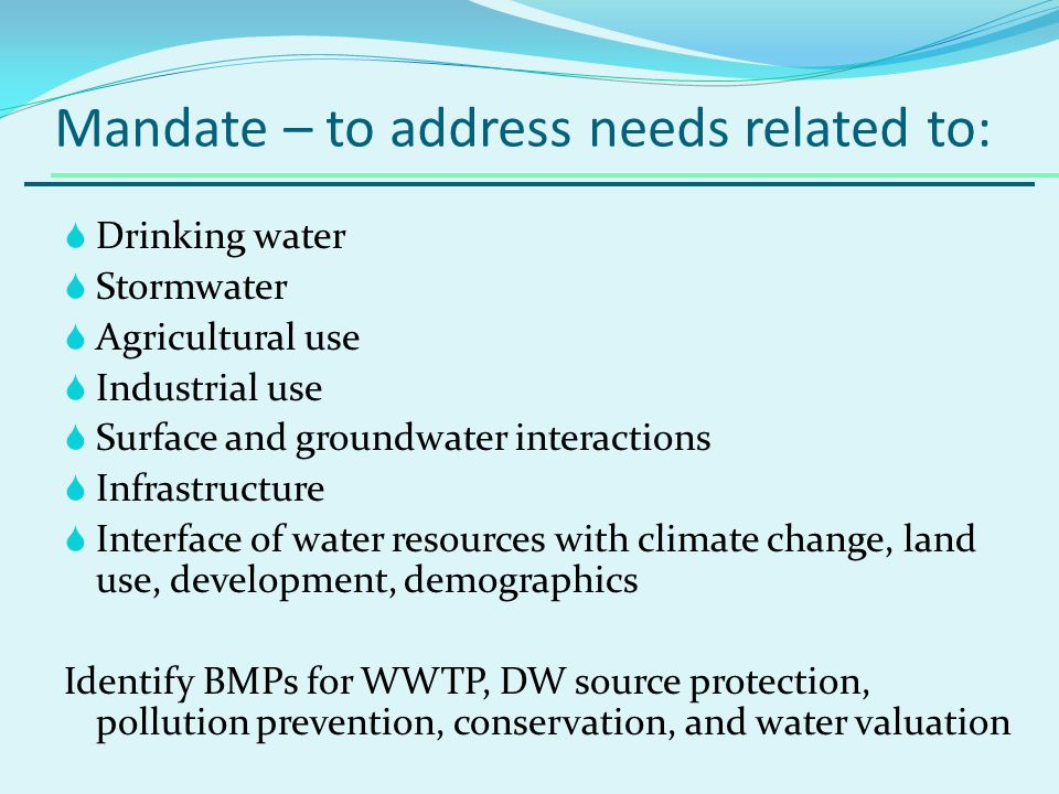 Sustainability Definition SUSTAINABLE WATER USE DOES NOT HARM ECOSYSTEMS, DEGRADE WATER QUALITY, OR COMPROMISE THE ABILITY OF FUTURE GENERATIONS TO MEET THEIR OWN NEEDS.