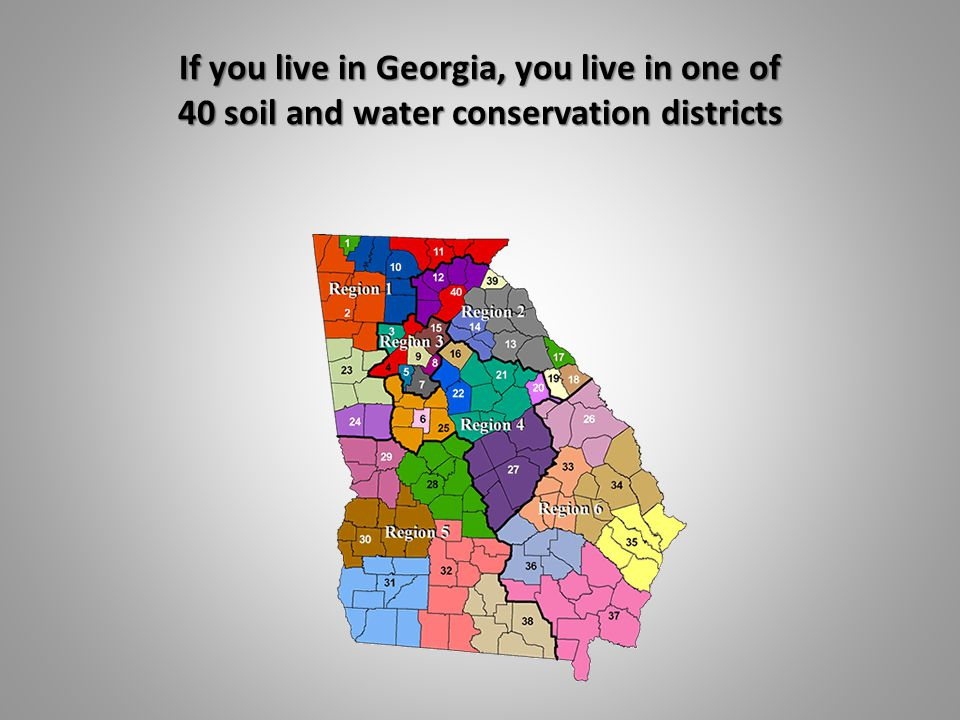 If you live in Georgia, you live in one of 40 soil and water conservation districts