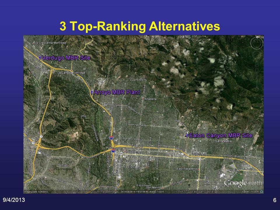 3 Top-Ranking Alternatives 9/4/2013 6