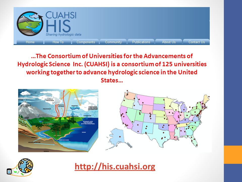 …The Consortium of Universities for the Advancements of Hydrologic Science Inc.