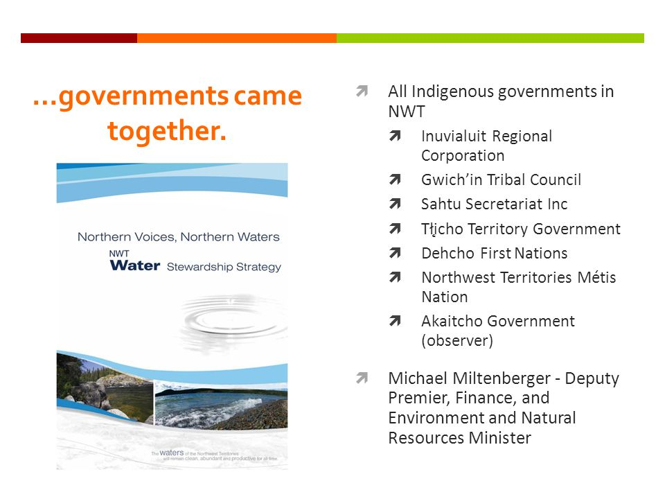 …governments came together.