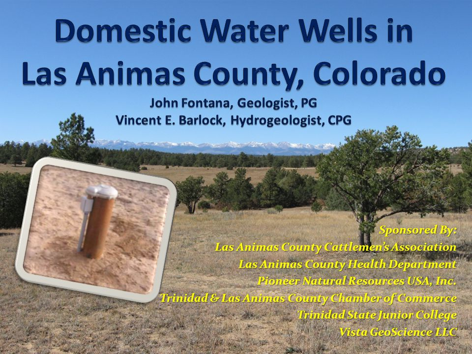 THANK YOU Sponsored By: Sponsored By: Las Animas County Cattlemens Association Las Animas County Cattlemens Association Las Animas County Health Department Las Animas County Health Department Pioneer Natural Resources USA, Inc.