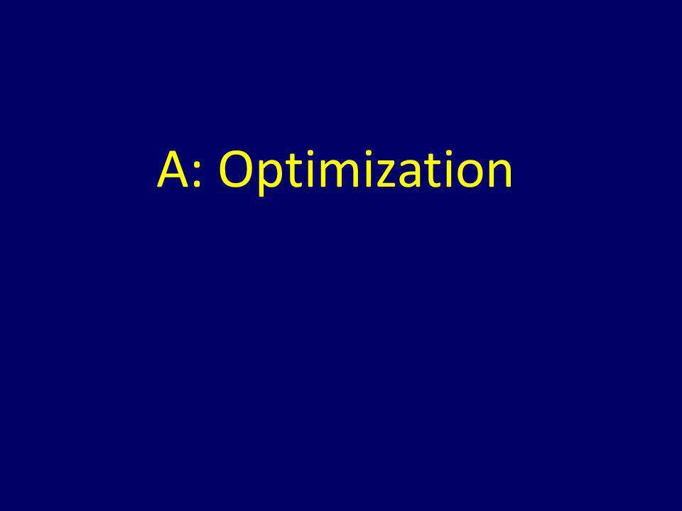 A: Optimization