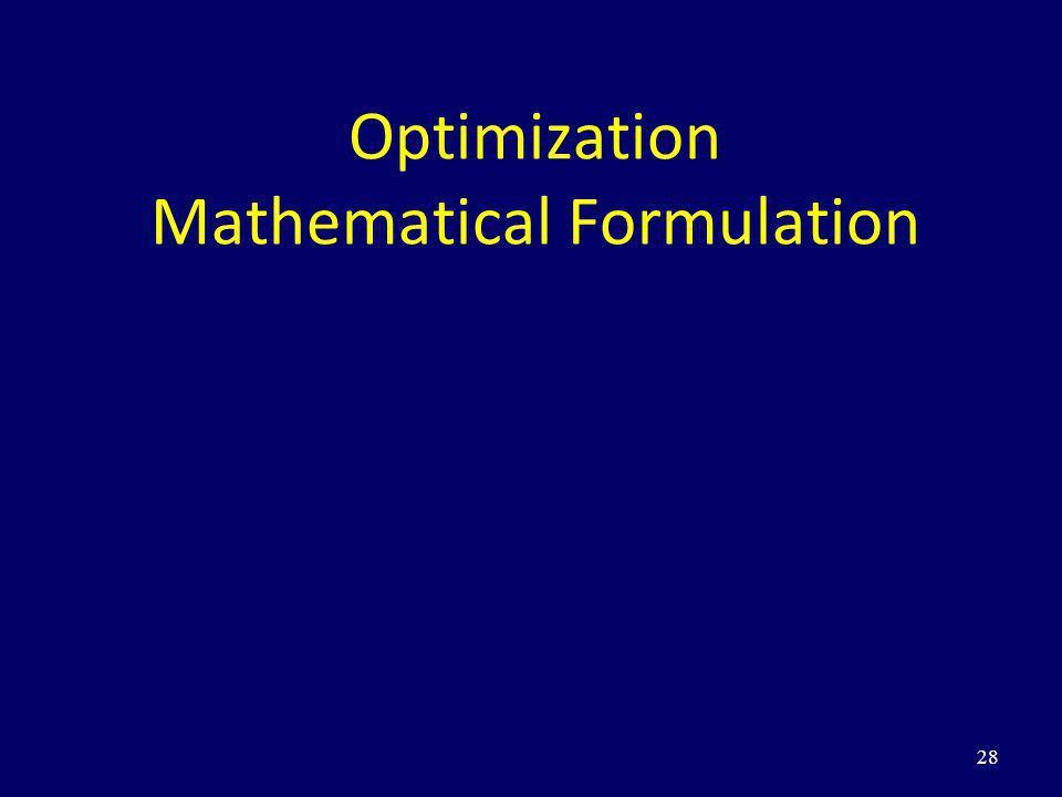 28 Optimization Mathematical Formulation
