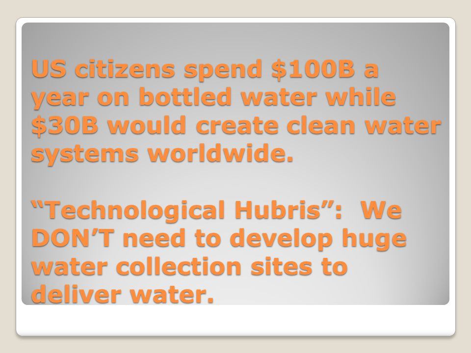 WHO OWNS THE WATER.