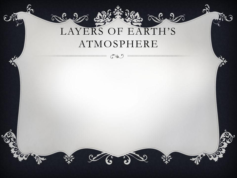 LAYERS OF EARTHS ATMOSPHERE