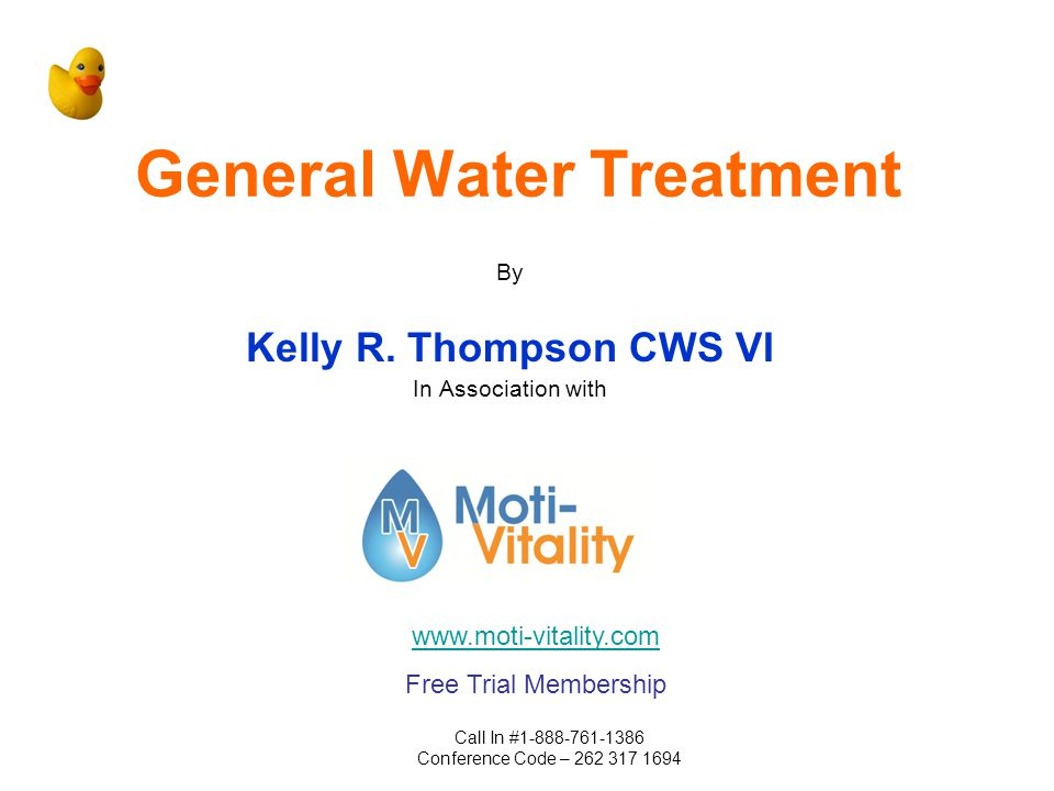 General Water Treatment By Kelly R.