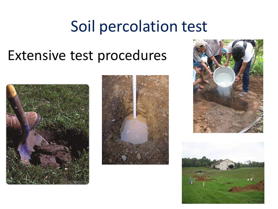 Soil percolation test Extensive test procedures