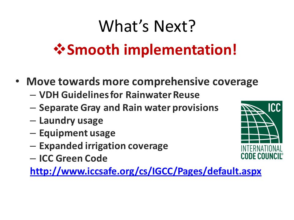 Whats Next. Smooth implementation.