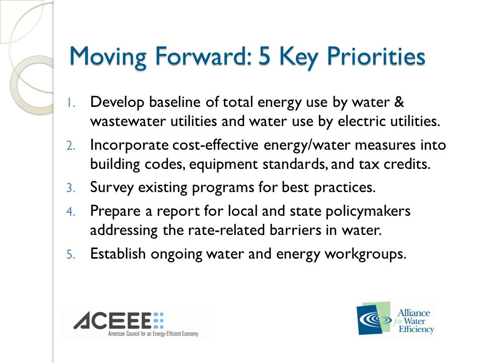 Moving Forward: 5 Key Priorities Moving Forward: 5 Key Priorities 1.