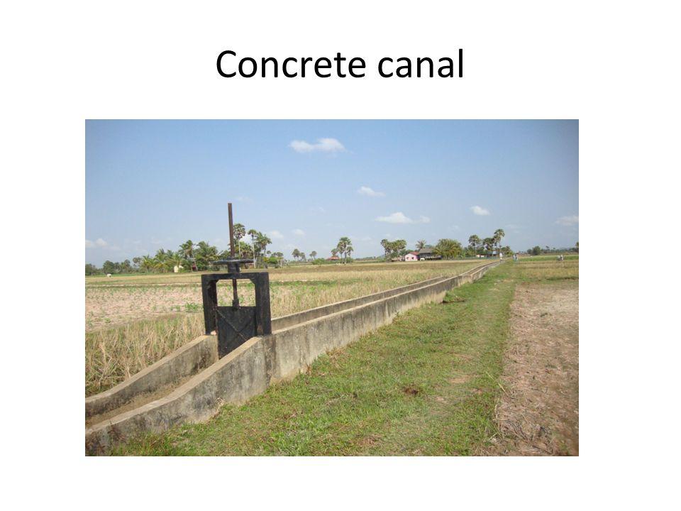 Concrete canal