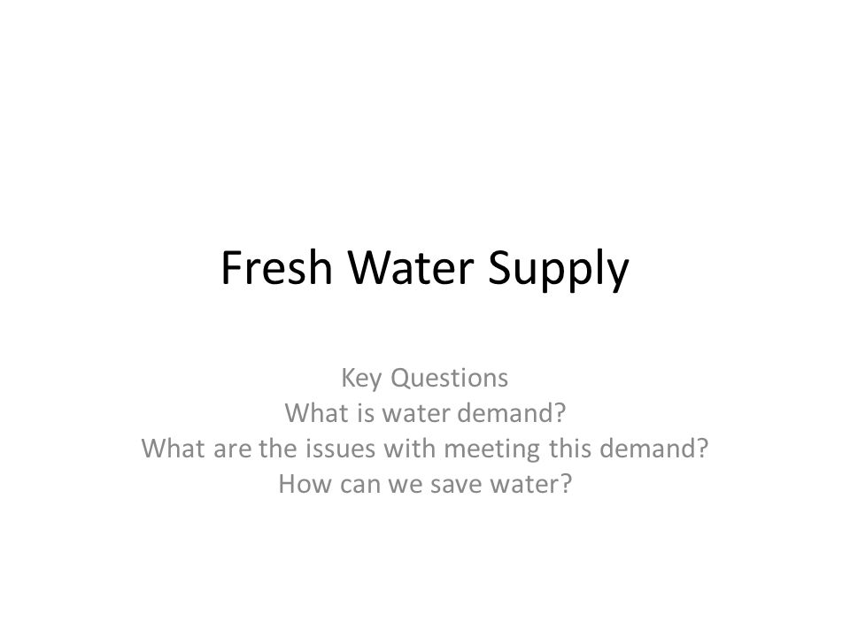 PhotoInformation (i.e rooms, price, location) Why is it important to save water.