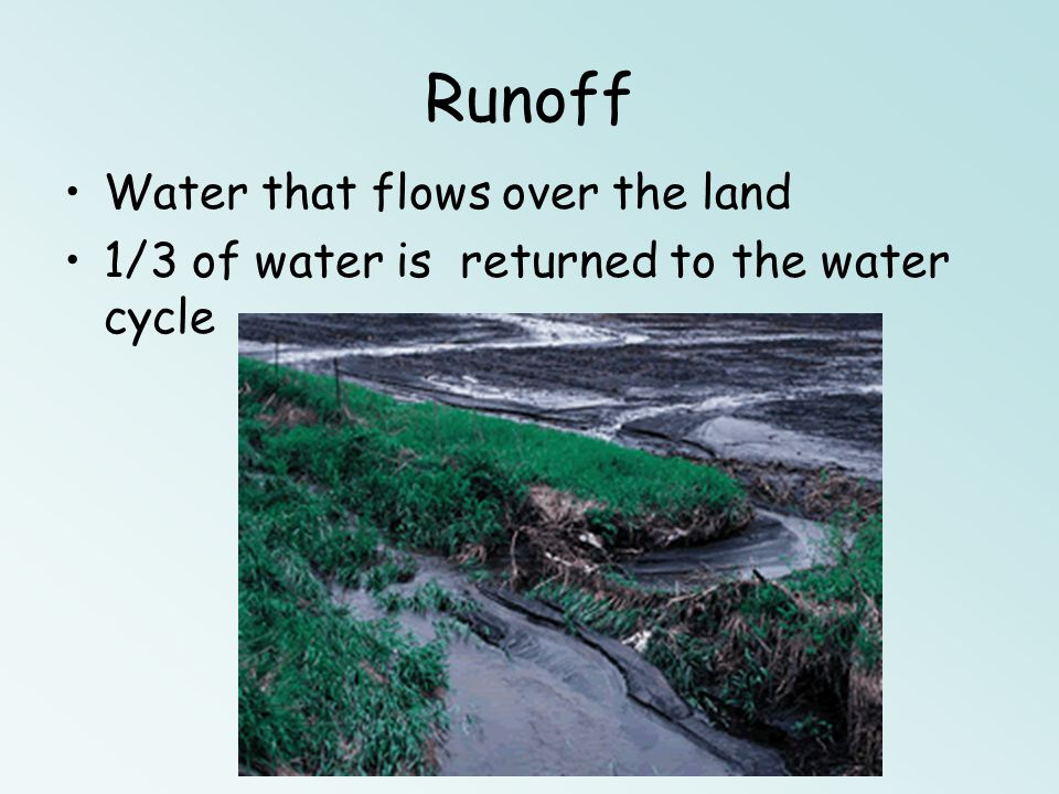 Infiltration (seep) Gravity pulls water into the upper parts of the Earths lithosphere – Subsurface Water Poor Infiltration