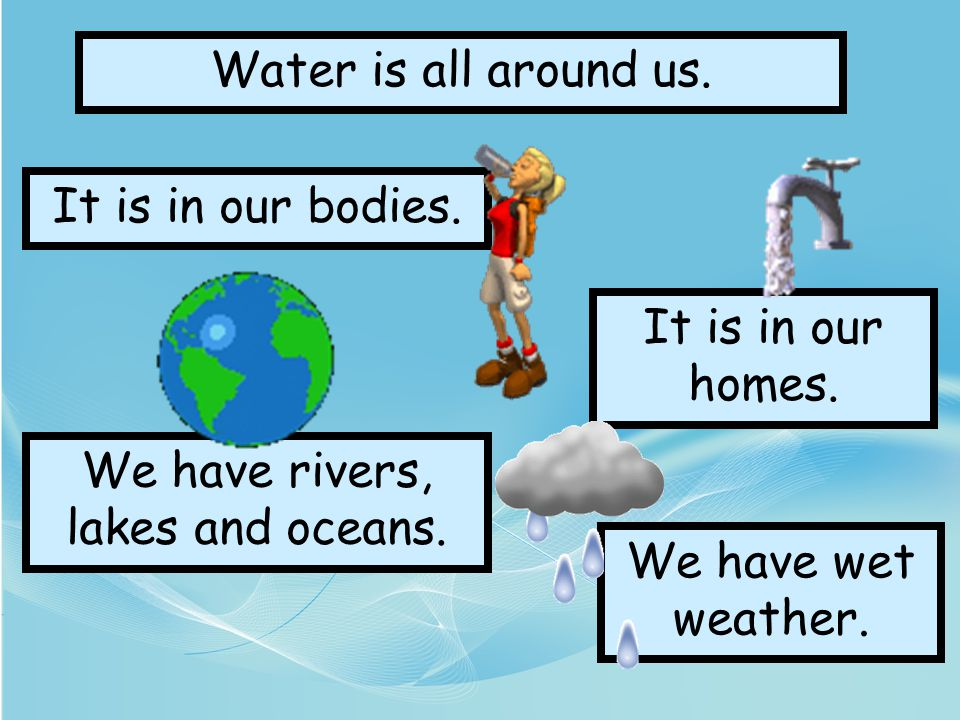 Water is a liquid but it can change into other things.