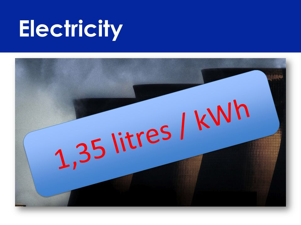Electricity 1,35 litres / kWh