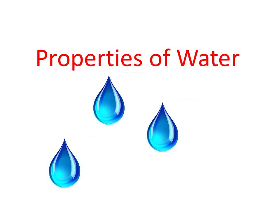 What is water? Water is H 2 O One molecule of oxygen and two molecules of hydrogen.