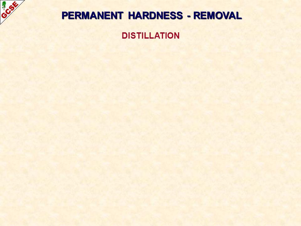 PERMANENT HARDNESS - REMOVAL DISTILLATION