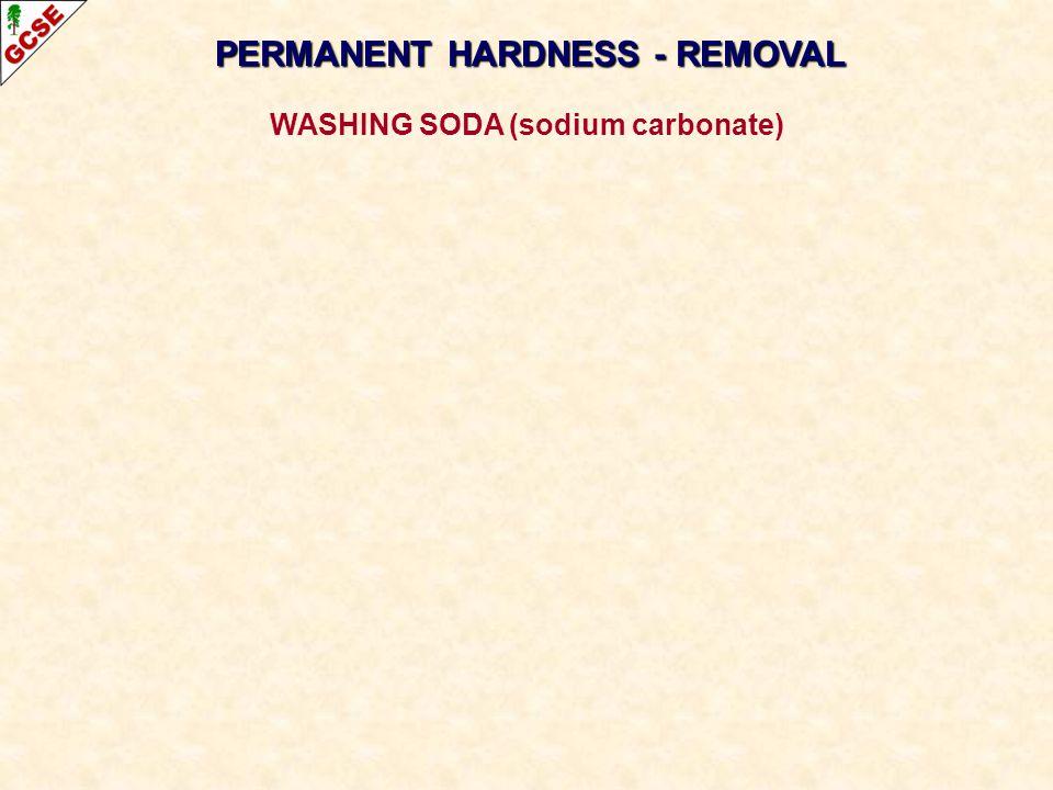 PERMANENT HARDNESS - REMOVAL WASHING SODA (sodium carbonate)