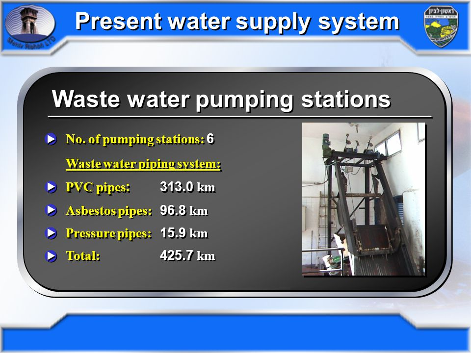 Waste water pumping stations No.