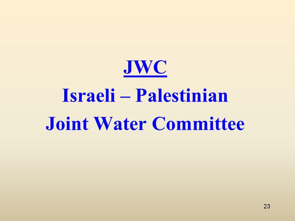 JWC Israeli – Palestinian Joint Water Committee 23
