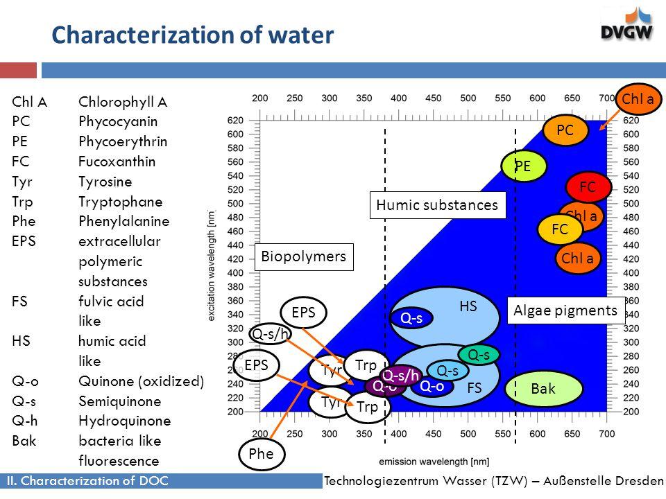 Technologiezentrum Wasser (TZW) – Außenstelle Dresden Characterization of water II.