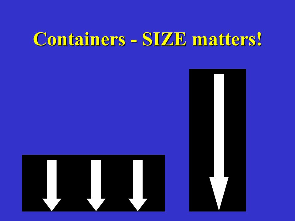 Containers - SIZE matters!
