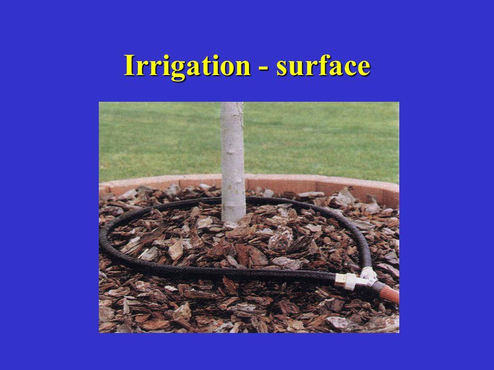 Irrigation - surface