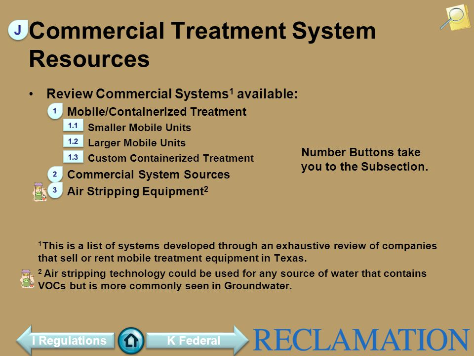 Commercial Treatment System Resources Review Commercial Systems 1 available: Mobile/Containerized Treatment Smaller Mobile Units Larger Mobile Units Custom Containerized Treatment Commercial System Sources Air Stripping Equipment 2 1 This is a list of systems developed through an exhaustive review of companies that sell or rent mobile treatment equipment in Texas.