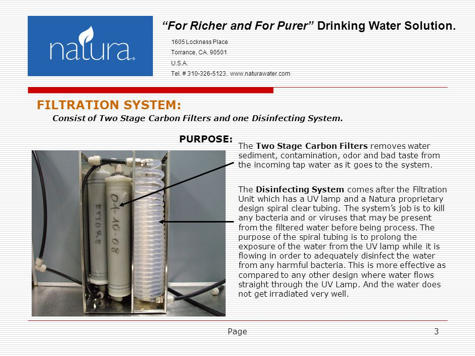 Page4 For Richer and For Purer Drinking Water Solution.
