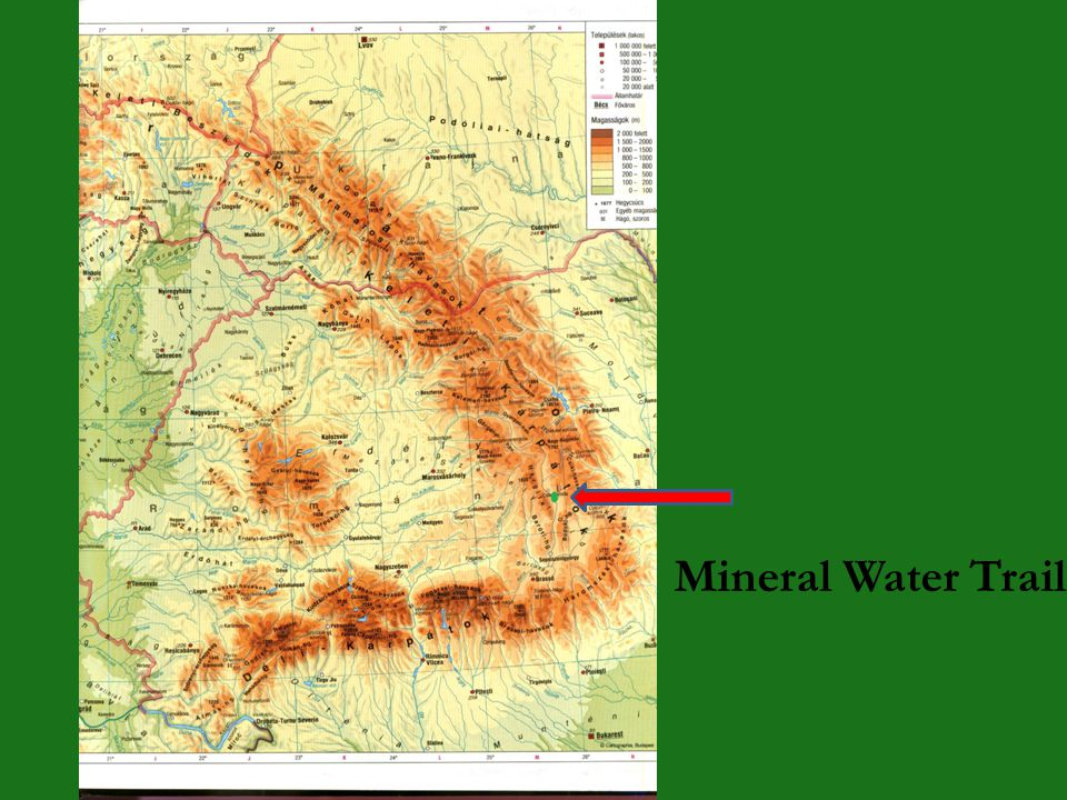 The Mineral Water Trail in the Lower Ciuc Basin (a green way and a nature trail) Objective presentation the first green way/educational trail in Seclerland documentation, planning, realization: 2000-2003 inauguration: 22 April, 2004 a path along the Olt river, on the dike more sections, not a linear way printed guidebook for travellers in limited examples the aim of the trail: - to promote the mineral waters - to promote cycling, as a recreational choice