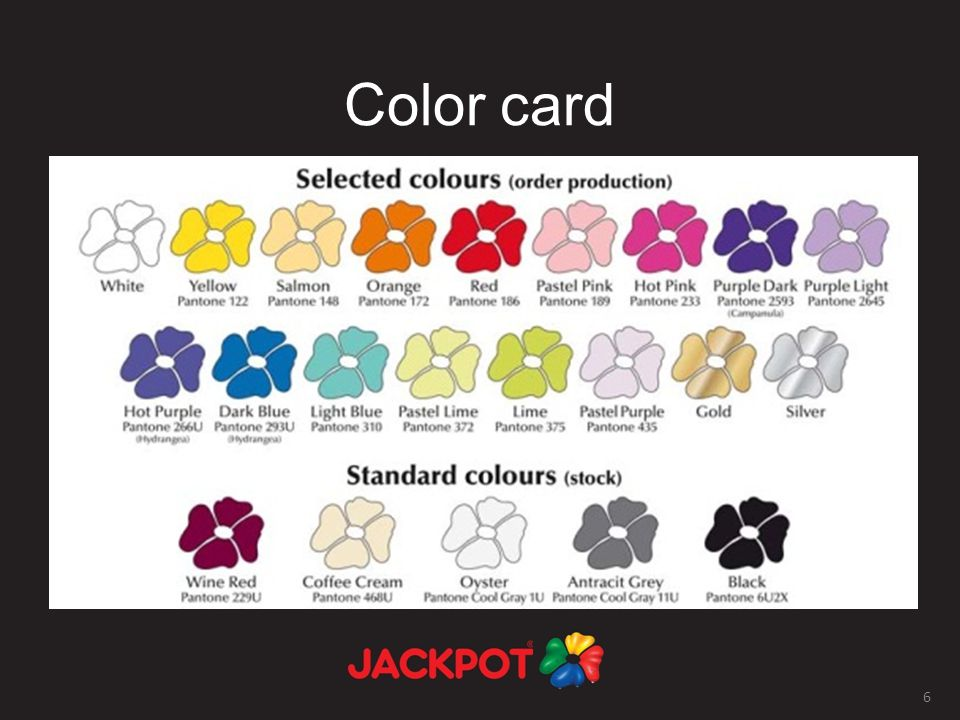 6 Color card
