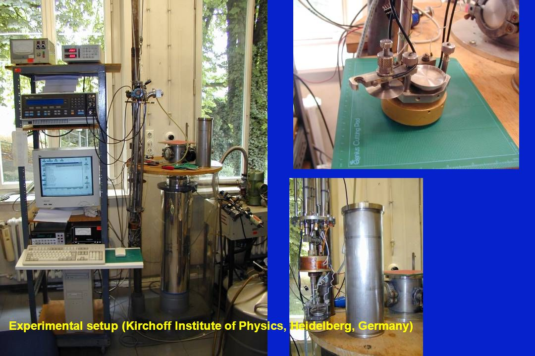 Experimental setup (Kirchoff Institute of Physics, Heidelberg, Germany)