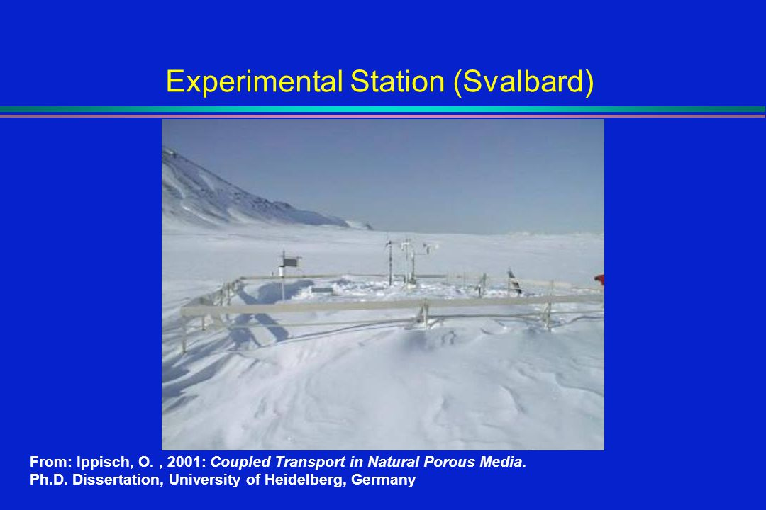 Experimental Station (Svalbard) From: Ippisch, O., 2001: Coupled Transport in Natural Porous Media.