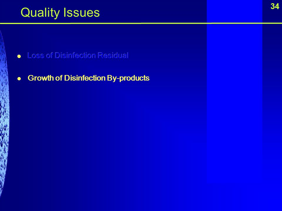 34 Quality Issues
