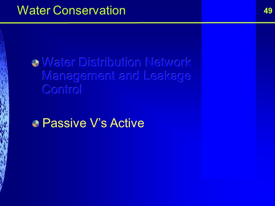 49 Water Conservation