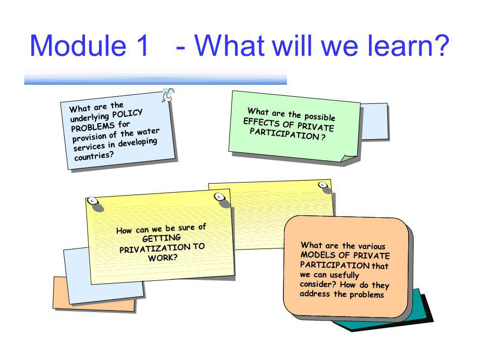 Module 1 - What will we learn.