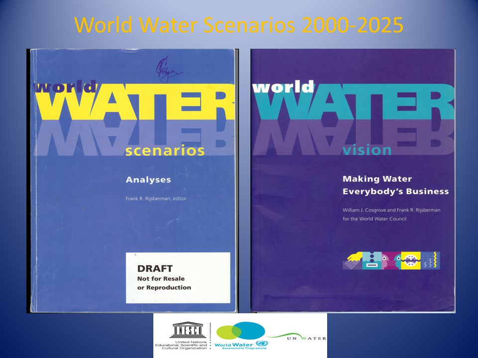 World Water Scenarios 2000-2025