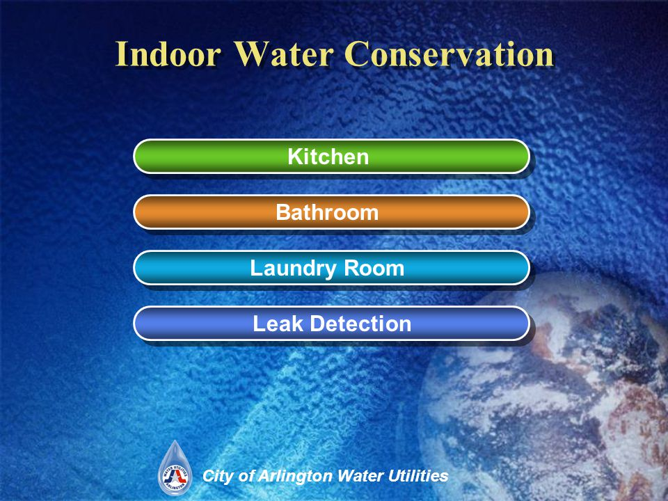 City of Arlington Water Utilities Water Saving Ideas for the Kitchen