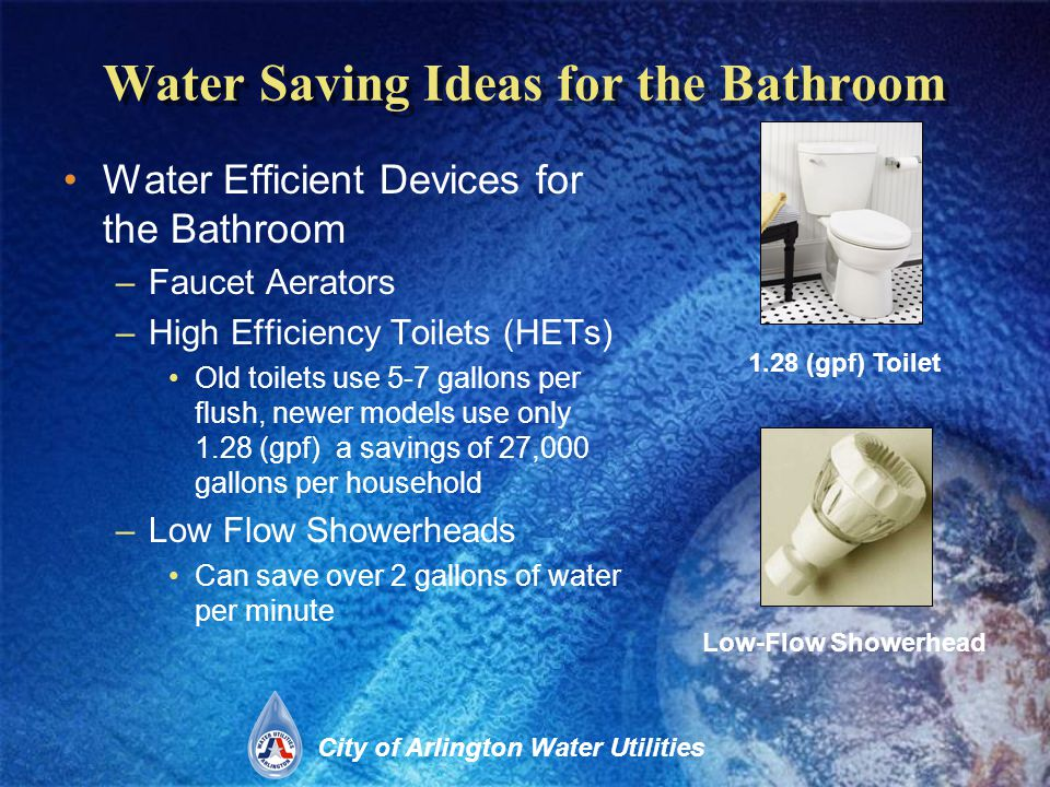 City of Arlington Water Utilities Leaks Check all water-using appliances, equipment, and other devices for leaks.