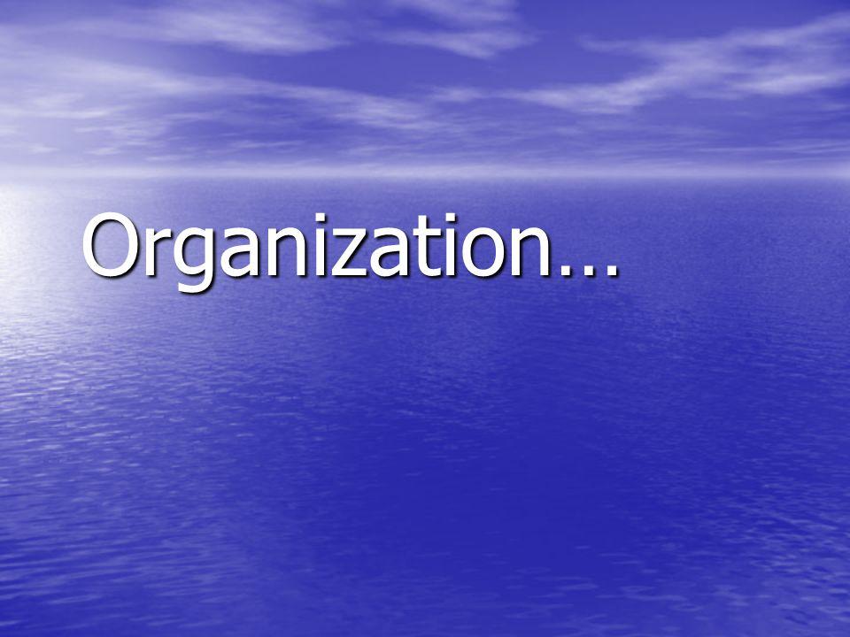 Organization… Organization…