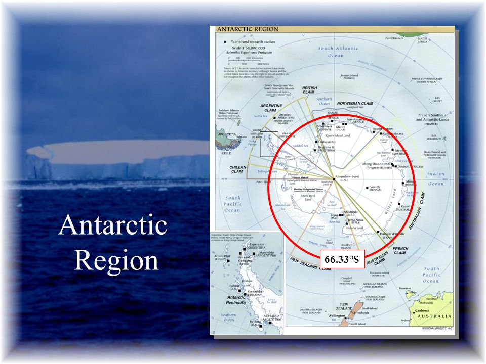 Antarctic Region 66.33°S